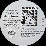 Jaquarius: Love Is Happiness label