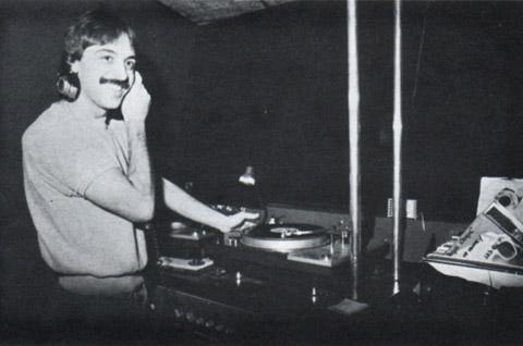 Lou DiVito in Bistro's DJ booth