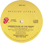 Undercover of the Night label