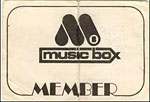 Muzic Box membership card