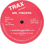 Mr. Fingers: Washing Machine/Can You Feel It? label