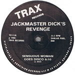 Jackmaster Dick's Revenge: Sensuous Women Goes Disco label