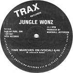 Jungle Wonz: Time Marches On label