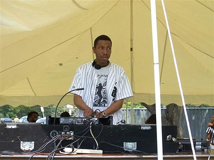 "Leonard ""Remix"" Rroy DJing at the Chosen Few Picnic in 2006"